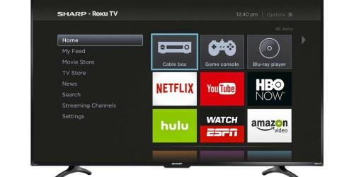 BestBuy.com: Sharp 55″ Smart HDTV Roku TV Only $349.99 Delivered (Regularly $449.99)