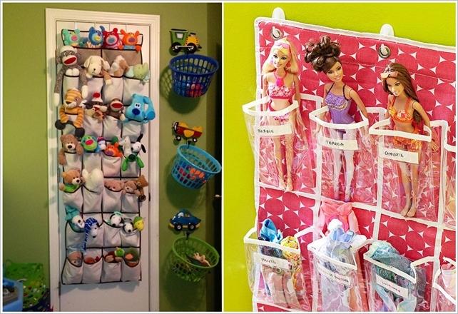Shoe organizer for toy storage
