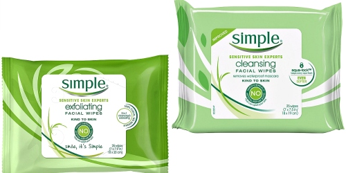 Amazon: Simple Facial Wipe Packs $2.66 Each Shipped + Nice Deals on St. Ives Face Scrub & More