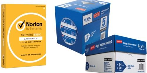 Staples: Great Deals on Norton AntiVirus Software, Paper & More (Starting 1/15)