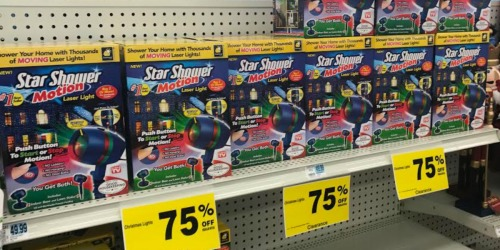 Rite Aid: 75% Off Holiday Clearance = Star Shower Motion Laser Light Only $12.50 & More