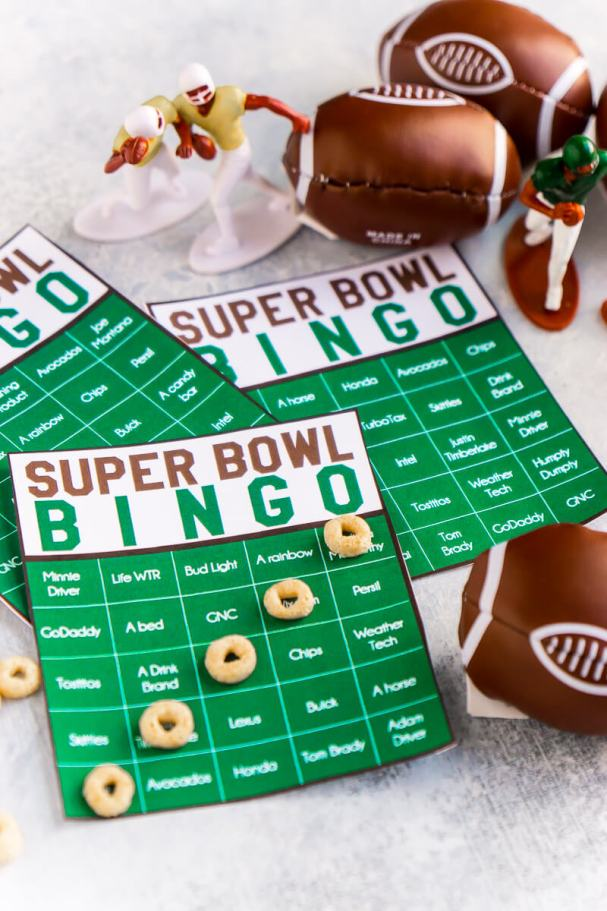 Super Bowl Commercial Bingo Game