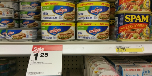 Target: LARGE Swanson Premium Chicken Breast Cans Only $1.25 Each (No Coupons Needed)