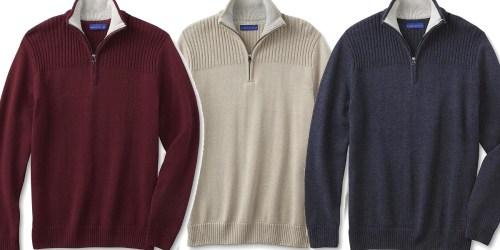 Sears.com: Men's Quarter-Zip Sweaters As Low As $10.49 Each Shipped (Regularly $19.99)