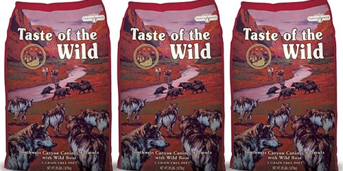 Amazon: Taste Of The Wild Dry Dog Food 28lb Bag Only $27.43 Shipped (Regularly $49.99)