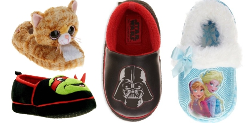 Walmart: Kids' Character Themed Slippers Only $3.88 (Regularly $9.97)