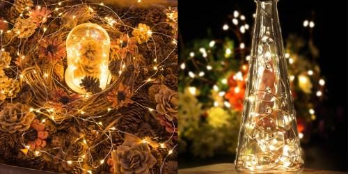 Amazon: Oak Leaf LED Starry String Lights Just $3.33 Per Strand & More Lighting Deals