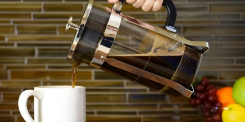 Amazon: Stainless Steel & Glass French Press Only $15.99 (Regularly $49.99)