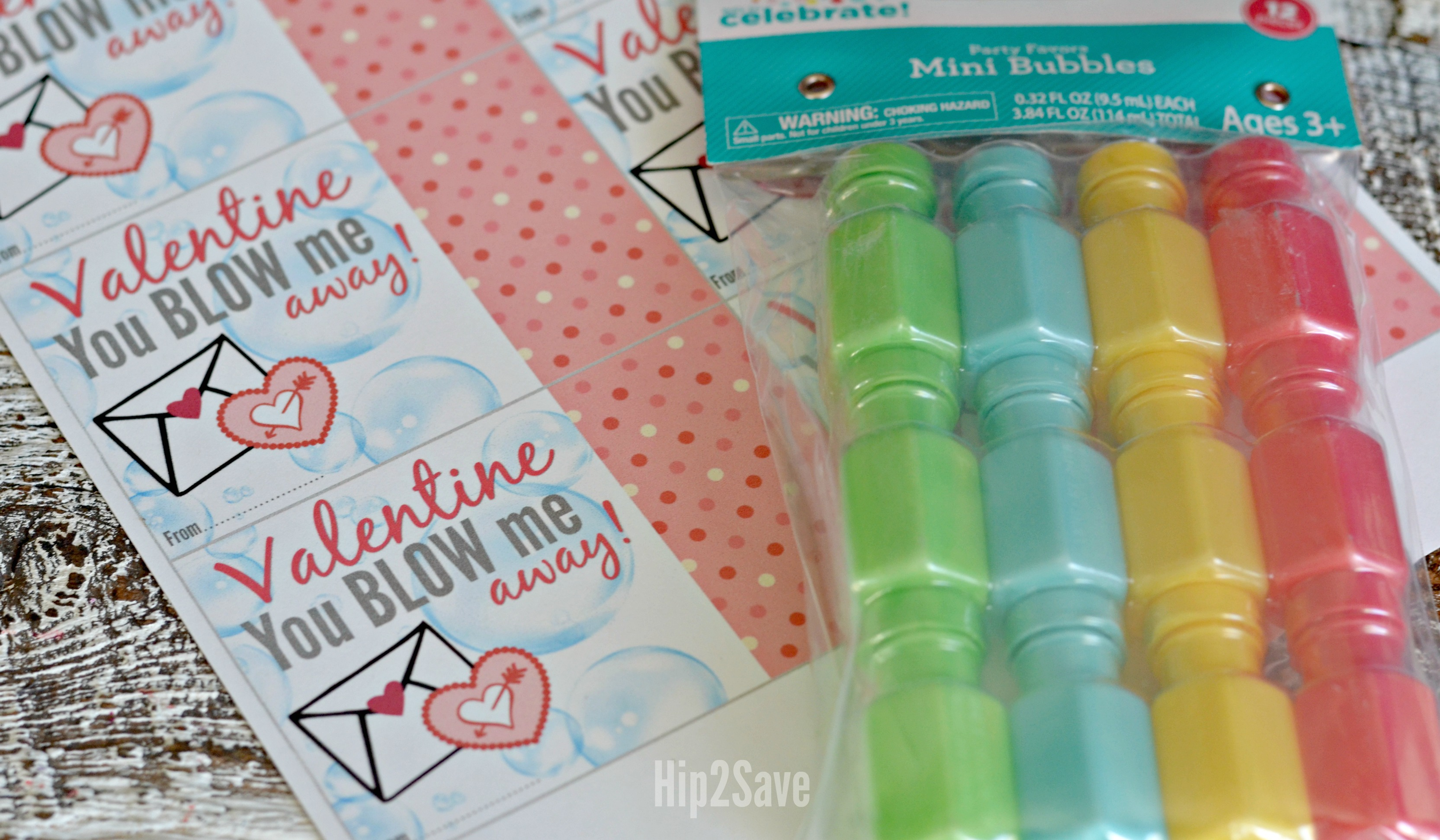 photo about You Blow Me Away Valentine Printable known as Mini Bubbles \