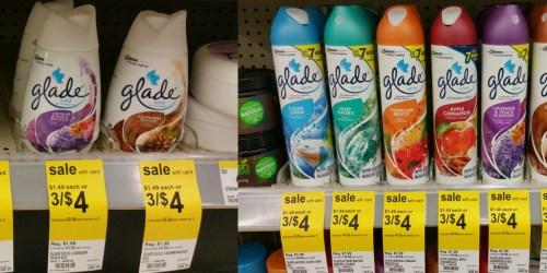 Walgreens: Glade Solid Air Fresheners or Aerosol Sprays 46¢ Each (After Register Reward)
