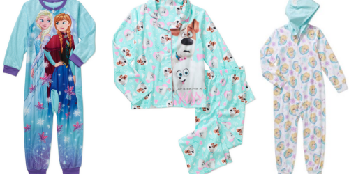 Walmart.com: Girls Character Pajamas Starting at Only $4.50 (Regularly $13.74+)