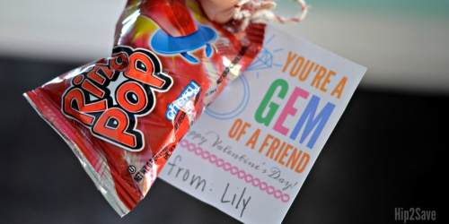 """""""You're a Gem of a Friend"""" Ring Pop Valentine's Day Idea"""