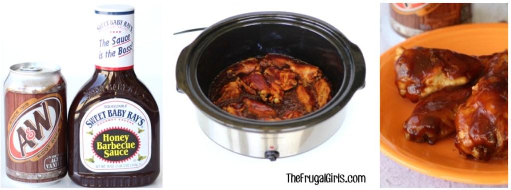 slow cooker root beer wings