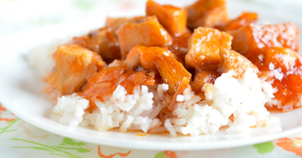 Easy cooker sweet and sour chicken