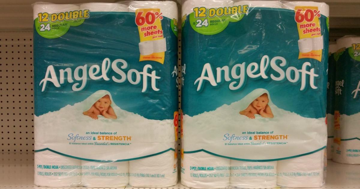Target Angel Soft Bathroom Tissue 12 Rolls Only 3 79