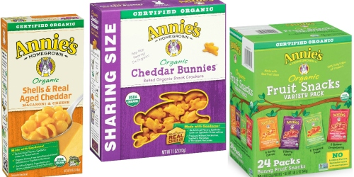 Amazon: 20% Off Annie's Homegrown Products = 12 Pack Macaroni & Cheese $9.74 Shipped (81¢ Each)