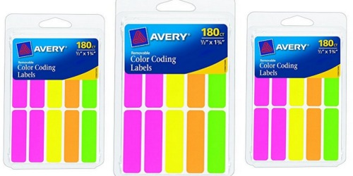 Amazon: Avery Rectangular Color Coding Labels 180-Count Only $1.68 (Regularly $5.24)