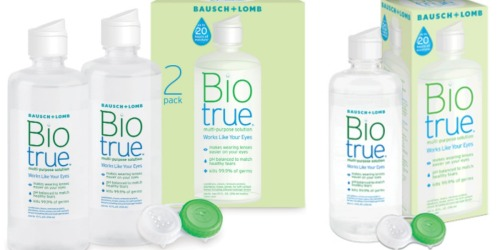 Possible Free Biotrue Solution Sample OR $3/1 Biotrue Multi-Purpose Solution Coupon