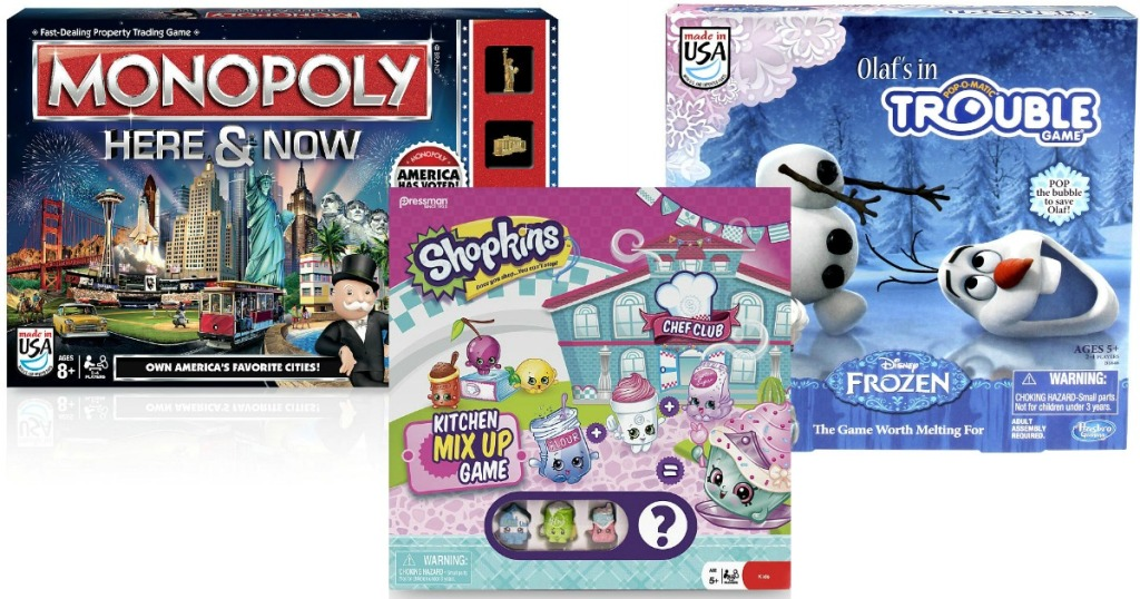 Toysrus Com 5 Board Games Monopoly Here Now Shopkins Kitchen
