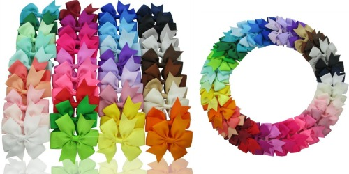 Amazon: FORTY Girls' Hair Bows Only $9.99