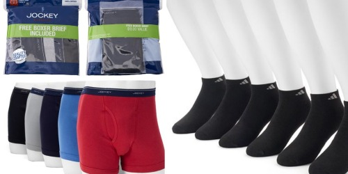 Kohl's: Jockey Boxer Briefs 5-Pack AND Adidas Ankle Socks 6-Pack Only $21.98 Shipped ($54 Value)