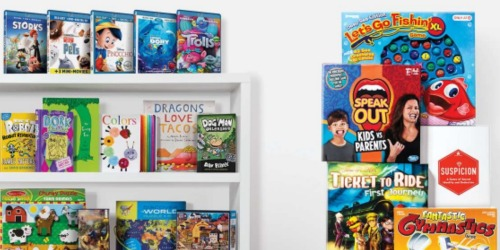 Target.com: Buy 2 Get 1 Free Books, Movies And Toys