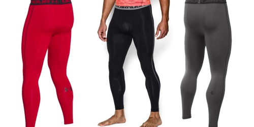 Under Armour Men's HeatGear Compression Leggings Only $23.99 (Regularly $39.99)