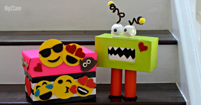 Creative Valentine's Day Box Ideas (Monster and Emoji Themed)