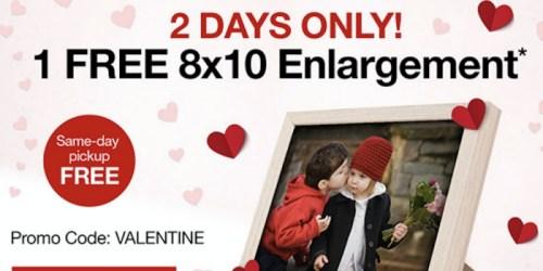 CVS: Free 8X10 Print + Free Same Day Pickup