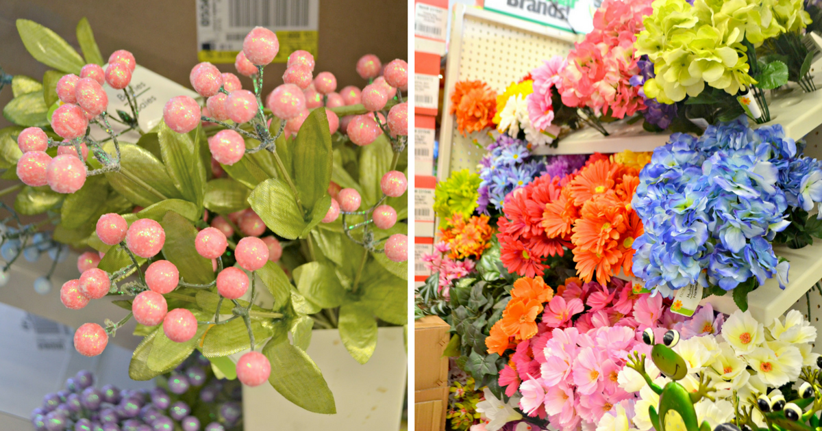 close up of colorful flowers in store