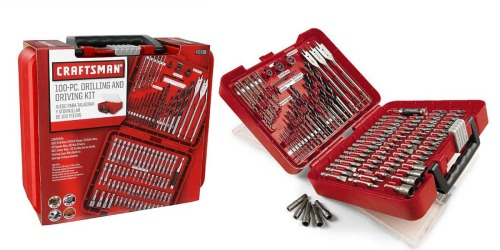 Sears: Craftsman 100-Piece Drill Accessory Kit Only $12.99 (Regularly $29.99) + Earn $3 in SYW Points