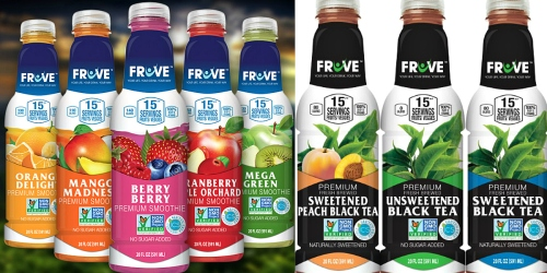 Jet.com: Buy 1 Get 1 Free Case of FrUve Premium Smoothies & Tea = As Low As 95¢ Per Drink Shipped
