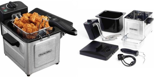 Walmart.com: Proctor Silex Professional-Style Deep Fryer Only $15 (Regularly $29.99)