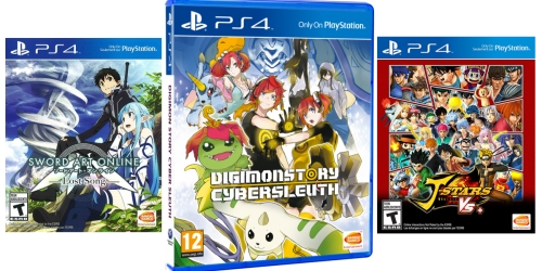 GameStop Anime Sale: Digimon Story Cyber Sleuth PS4 Game Only $9.99 (Regularly $19.99) + More