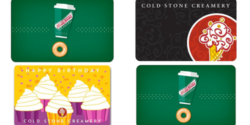 Amazon: $50 Worth Of Krispy Kreme Or Cold Stone Creamery Gift Cards Only $40 Delivered