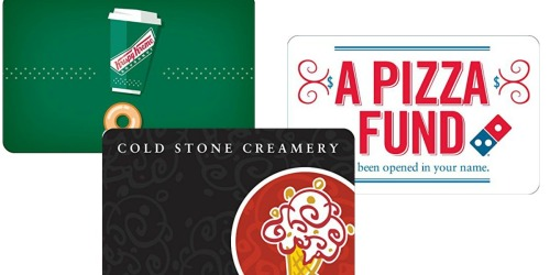Amazon: $50 Krispy Kreme, Domino's or Cold Stone Gift Card ONLY $40