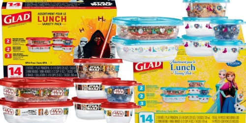 Walmart.com: Glad 14-Piece Disney Star Wars or Frozen Food Storage Containers Only $3.98