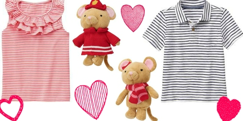 Gymboree: Free Shipping on ANY Order + Possible 20% Off = $2.39 Tees, Mouse Rattles & More