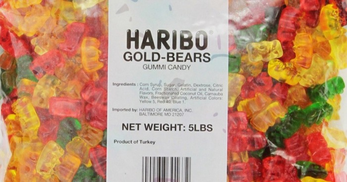 Amazon: Haribo Gold-Bears Gummi Candy 5-Pound Bag Only $9.84 Shipped