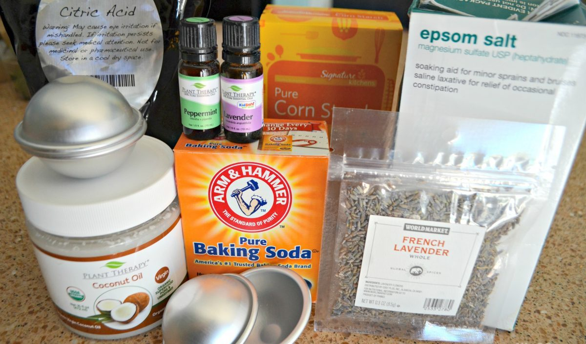 ingredients to make bath bombs