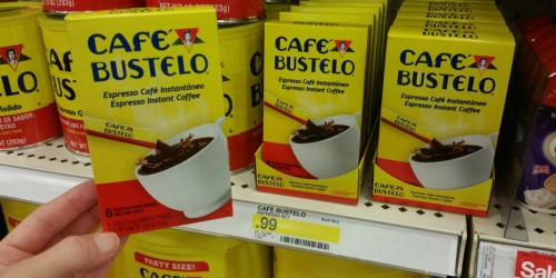 Target: Cafe Bustelo Instant Coffee 6 Pack Only 75¢ + Celestial Seasonings Tea Only 45¢