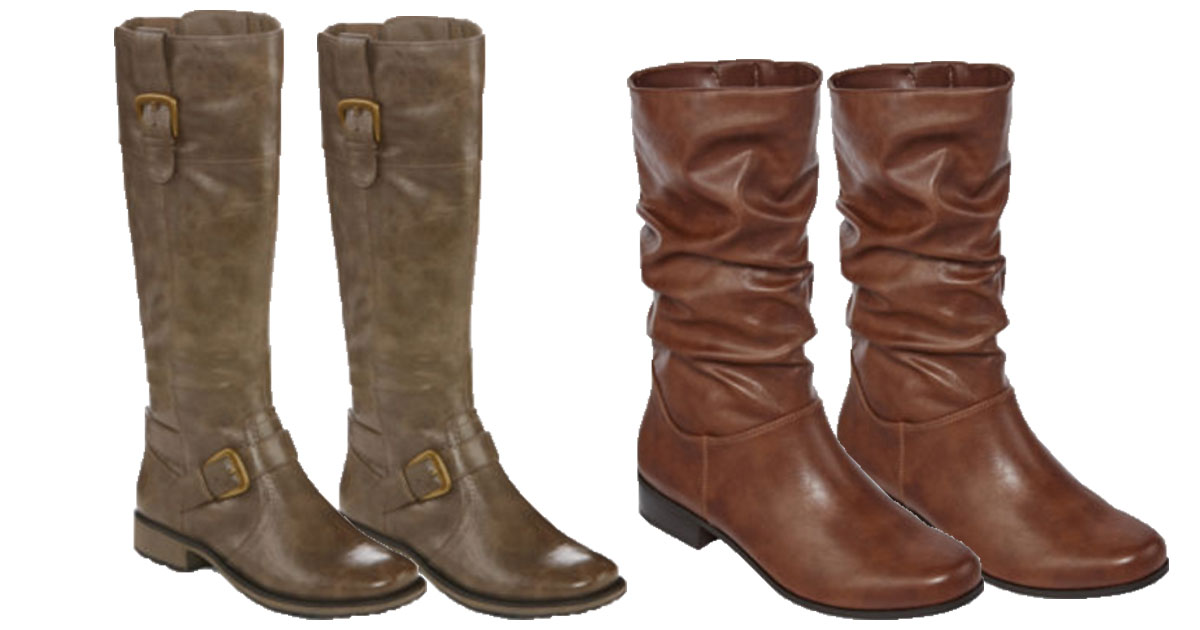 d3d58049020f JCPenney  Extra 25% Off  40 Purchase   Women s Riding Boots Only  35.99  (Reg.  120)   More - Hip2Save