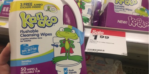 New $1/1 Kandoo Flushable Wipes Coupon = 50-Count Package Only 89¢ at Target