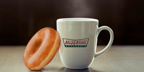 Krispy Kreme Doughnuts: FREE Coffee w/ ANY Purchase for Teachers (June & July)