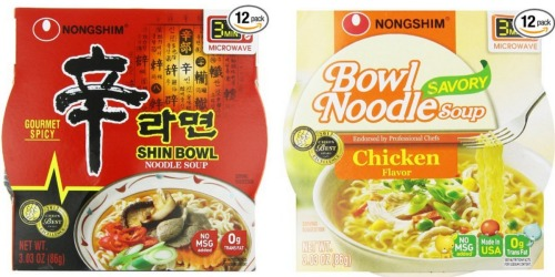 Amazon: Nongshim Shin Big Bowl Noodle Soup 12 Pack, Gourmet Spicy, Only $8.36 (Ships with $25 Order)