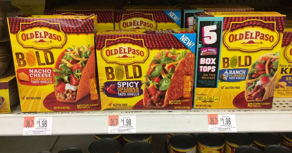 Walmart Old El Paso Bold Stand N Stuff Taco Shells Just 73 Each Nice Deal On Dinner Kit Hip2save