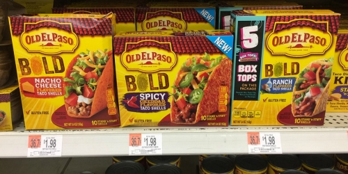 Walmart: Old El Paso BOLD Stand 'n Stuff Taco Shells Just 73¢ Each (+ Nice Deal on Dinner Kit)