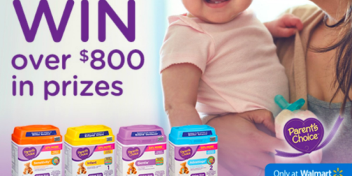 Parent's Choice Formula Sweepstakes: 5 Win $100 Walmart Gift Cards & More