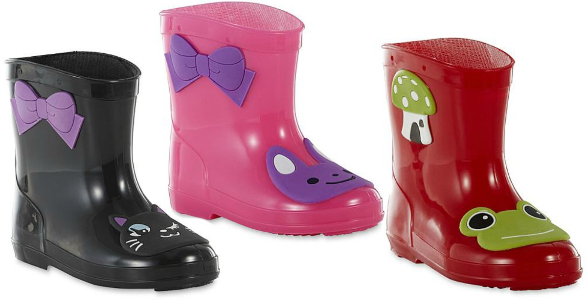 c4b94a031cd0 Sears: Extra 15% Off Shoes = Toddler Rain Boots Starting At $8.49 ...