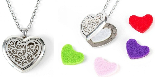 Plant Therapy: Heart-Shaped Aromatherapy Diffuser Locket $12.95 Shipped (Use with ANY Essential Oil)